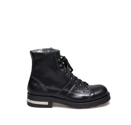 Frank<br />Leather desert boot with silver detail