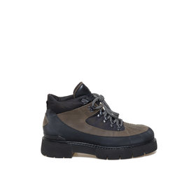 Amtrac<br />trekking-style black and army green army boots