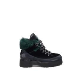 Trekking-style velvet army boots