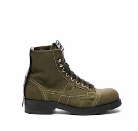 John men's military green half boot with removable Velcro