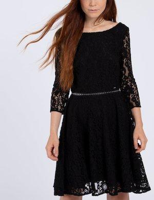 Vestito nero di pizzo W74K65 W9590 A996 sf