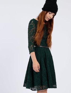 Vestito verde di pizzo W74K65 W9590 G882 sf