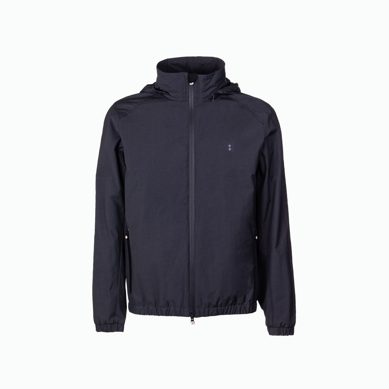 Draft jacket man with retractable hood - Iron Grey