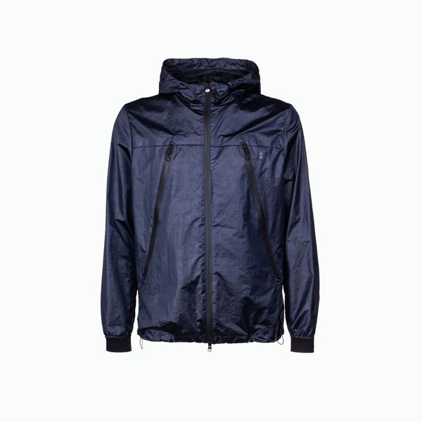 Compass jacket man with metallic reflections