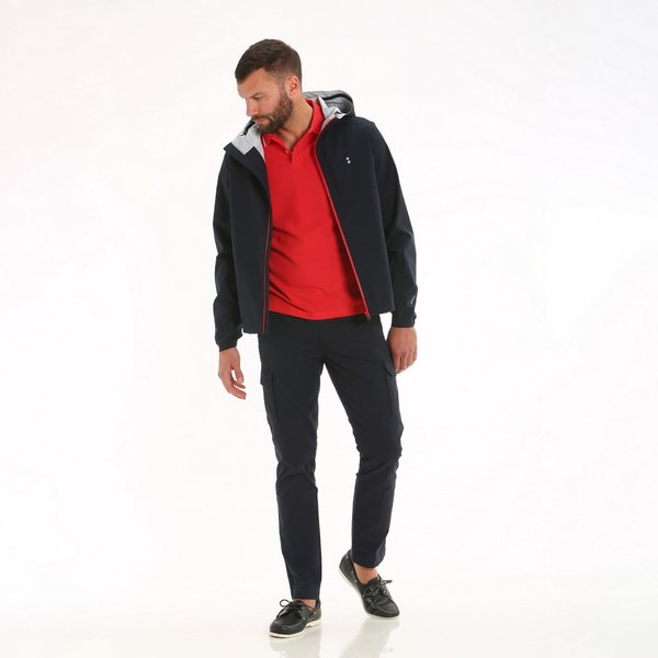 E01 waterproof men's hooded jacket