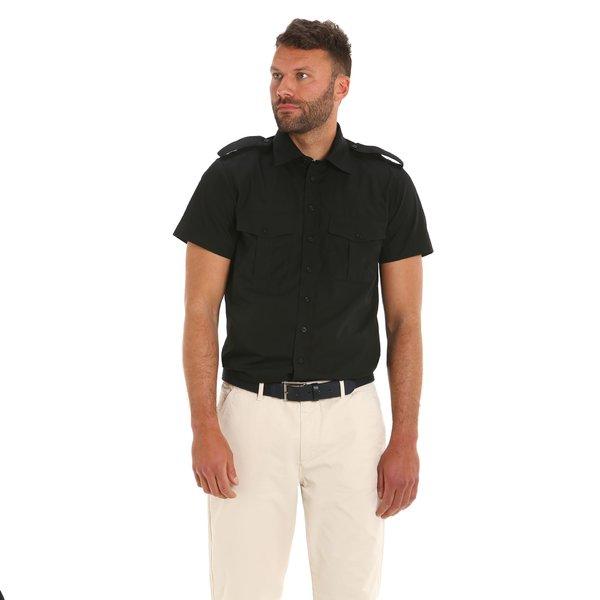 Laurel men's shirt in poplin cotton with insignia