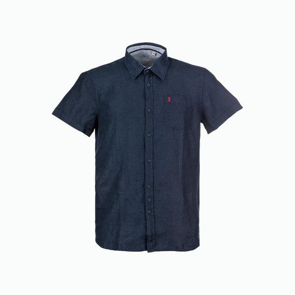 Short-sleeved men's shirt C18 in linen