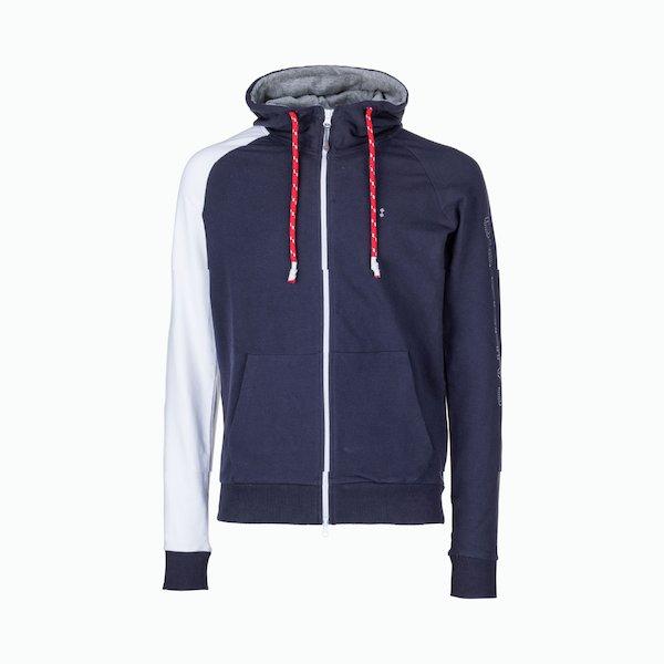 C92 cotton men's sweatshirt with zip with central print