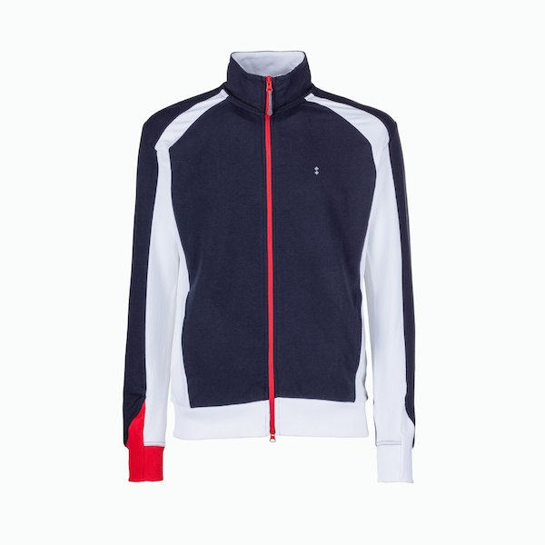 C93 zip sweatshirt man with sailing details