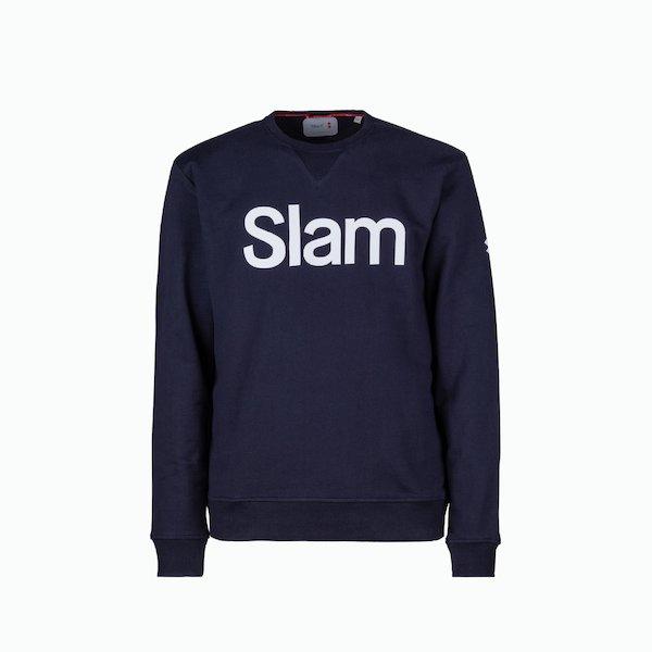 C255 men's sweatshirt in cotton with round neck and logo