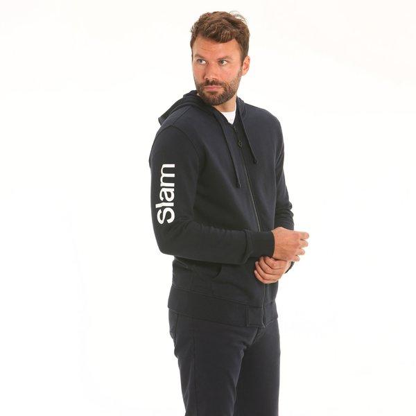 D163 men's hooded sweatshirt with side pockets