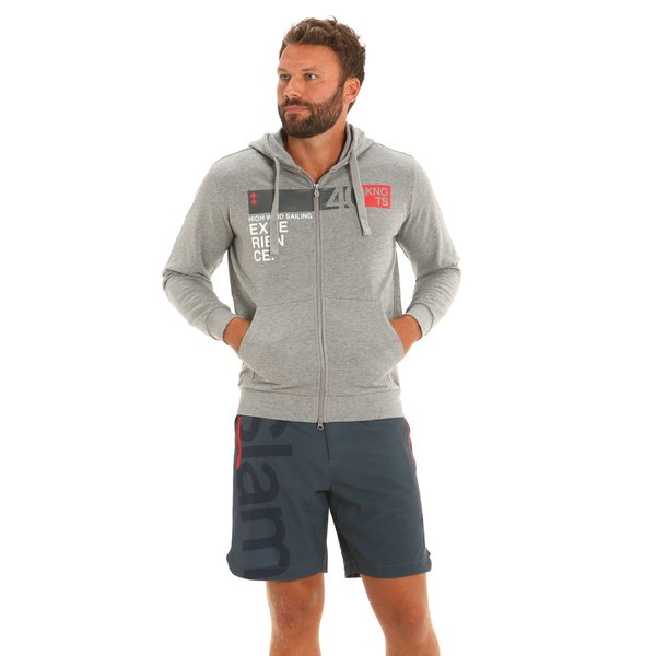 MEL E57 men's hooded sweatshirt in cotton and viscose