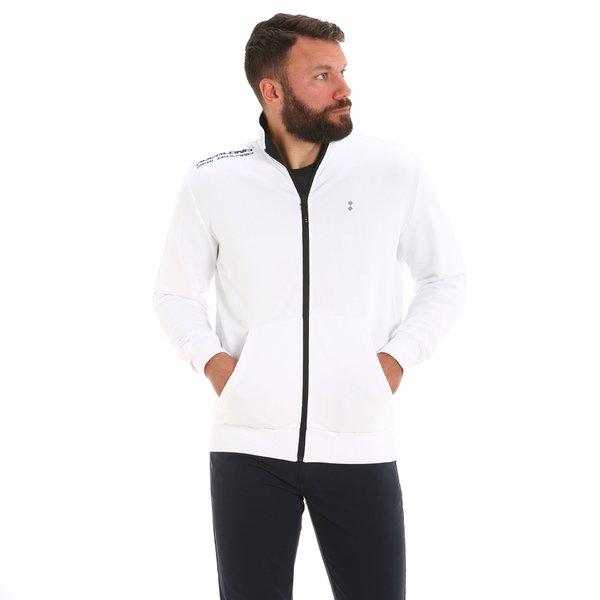 G555 men's full-zip cotton sweatshirt with central pocket