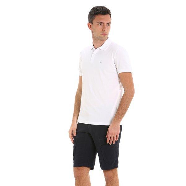 G78 men's polo shirt in organic stretch cotton jersey