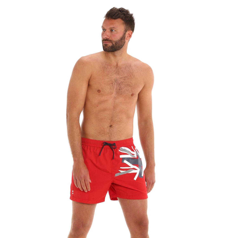 G166 men's swim trunks with side pockets - Slam Red