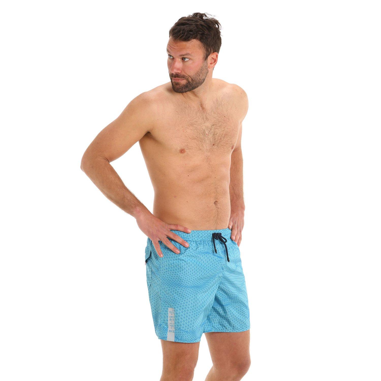 G169 men's swim trunks with elastic drawstring - Marine Fresh
