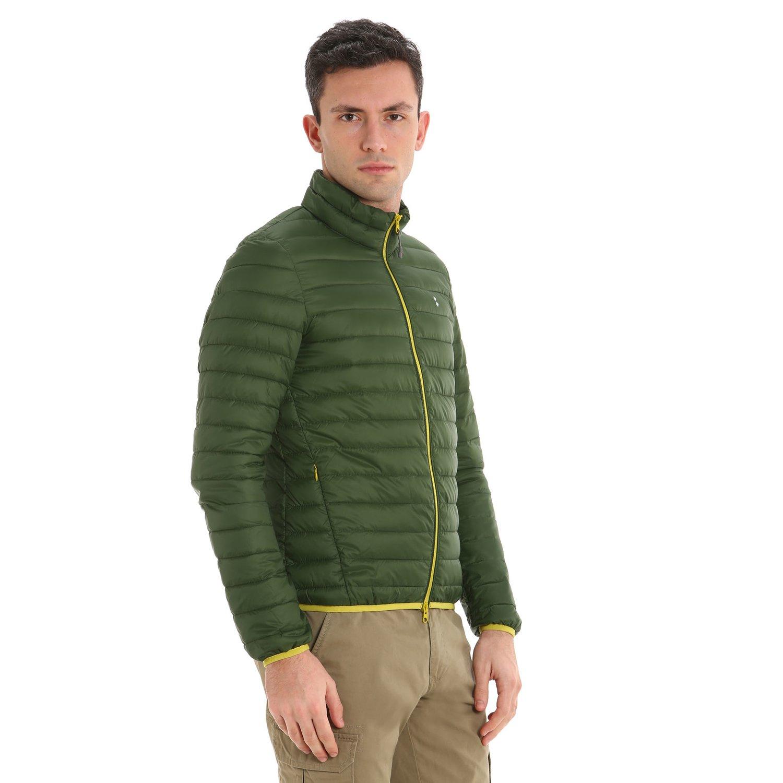 Lugger men's jacket in ultralight nylon - Black Forest