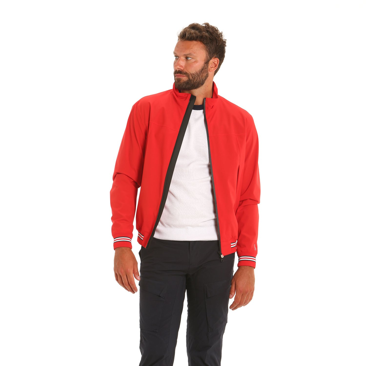 E08 waterproof, breathable, and windproof men's jacket - Slam Red
