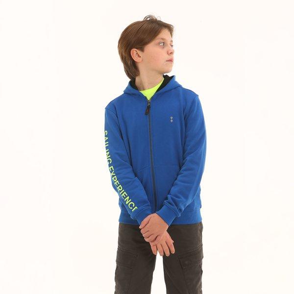 Junior sweatshirt F338 in cotton with zip