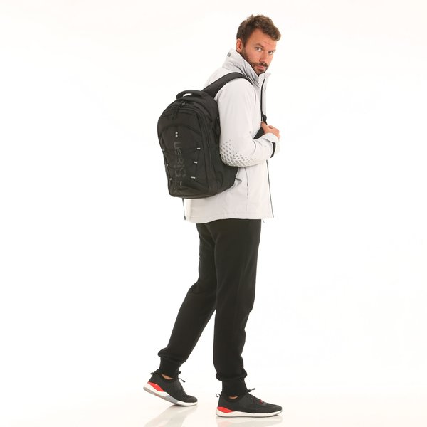 A234 water-repellent backpack with side straps