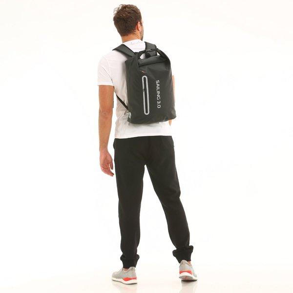 C45 waterproof roll-top backpack with vertical pocket