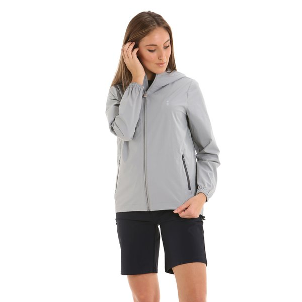 E207 water-repellent women's jacket in technical stretch fabric