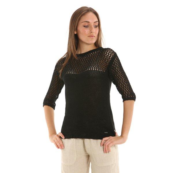 Solid color Cotton blend E213 women's sweater