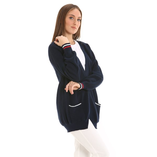 G215 women's cardigan in organic eco-cotton
