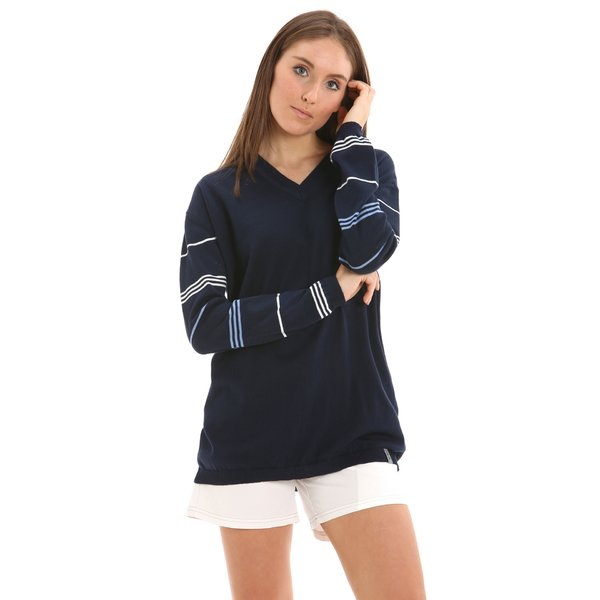 G224 women's V-neck jumper in eco-cotton