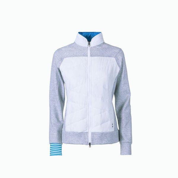 Women's A17 zip sweatshirt with interlock sweatshirt parts