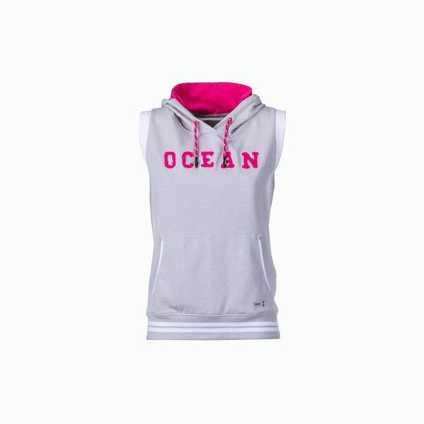 Women's sweatshirt C133 sleeveless with hood
