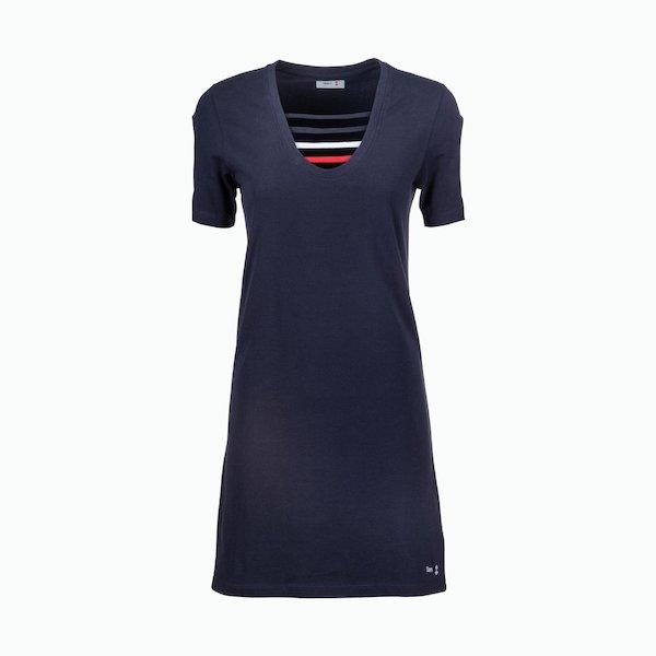Short-sleeved U-neck women's dress C126