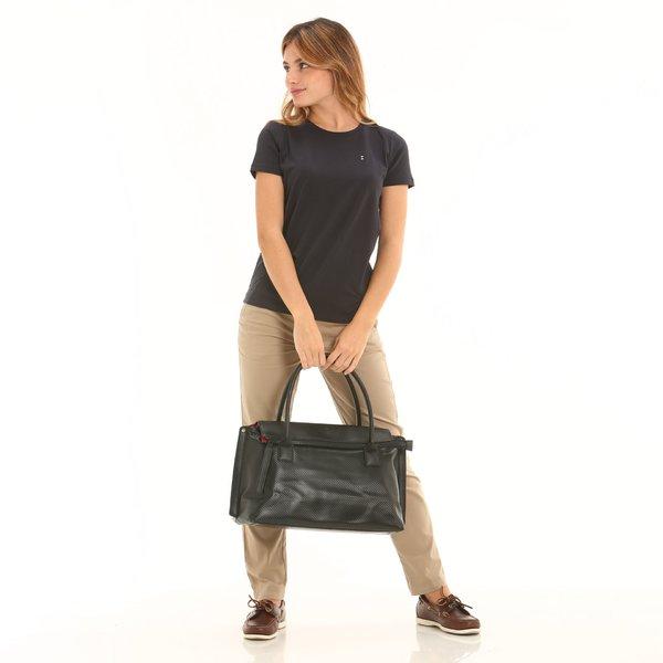 Women's Satchel Bag D921 Black
