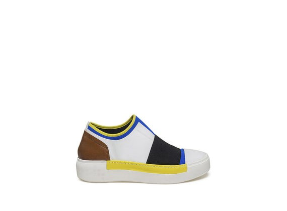 Colour block neoprene slip-on