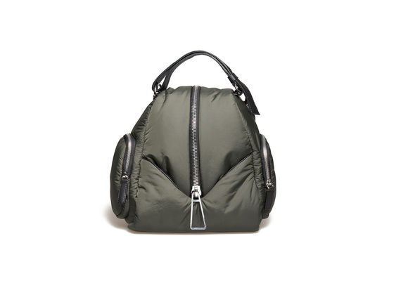 Small backpack in military-green fabric