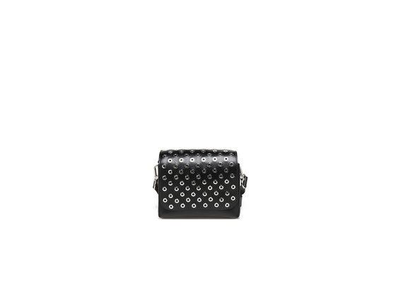 Schwarze Mini-Umhängetasche mit Ösen