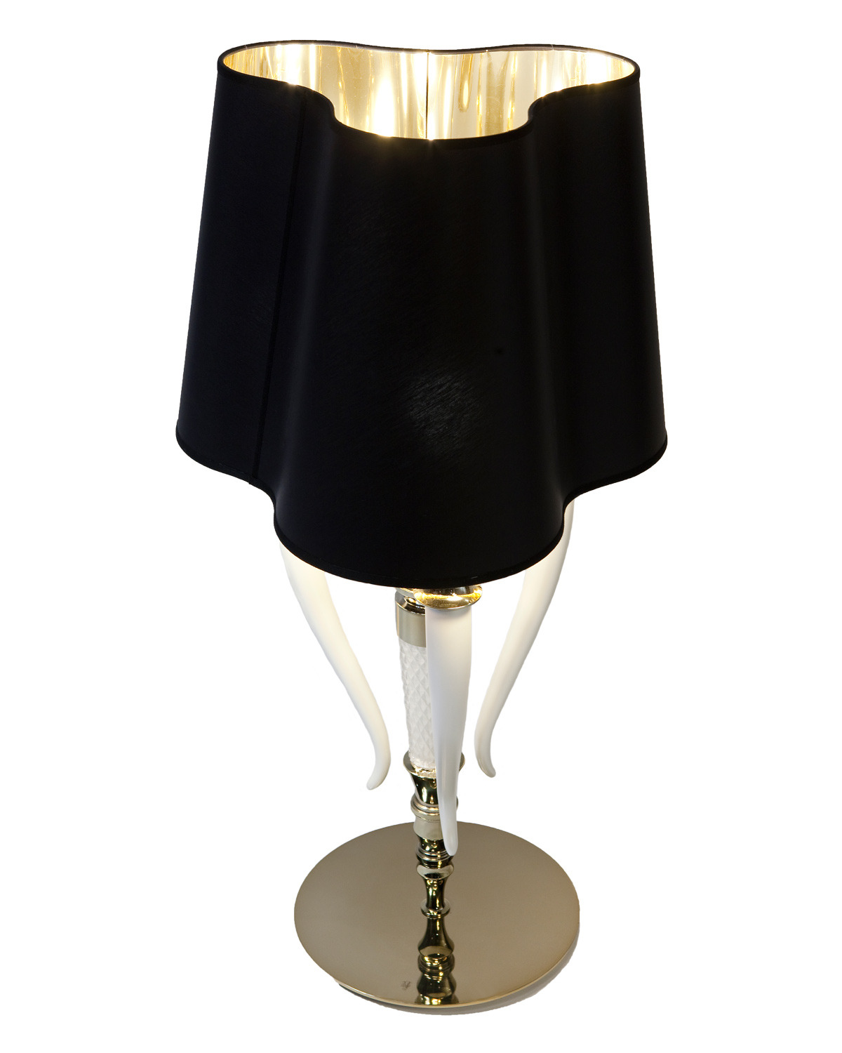 Visionnaire online shop table lamp lampshade in black silk product thumbnail product thumbnail aloadofball Images