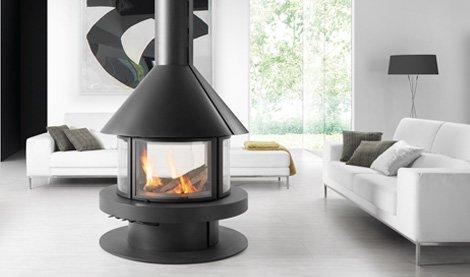 Metallic Wood Burning Fireplaces