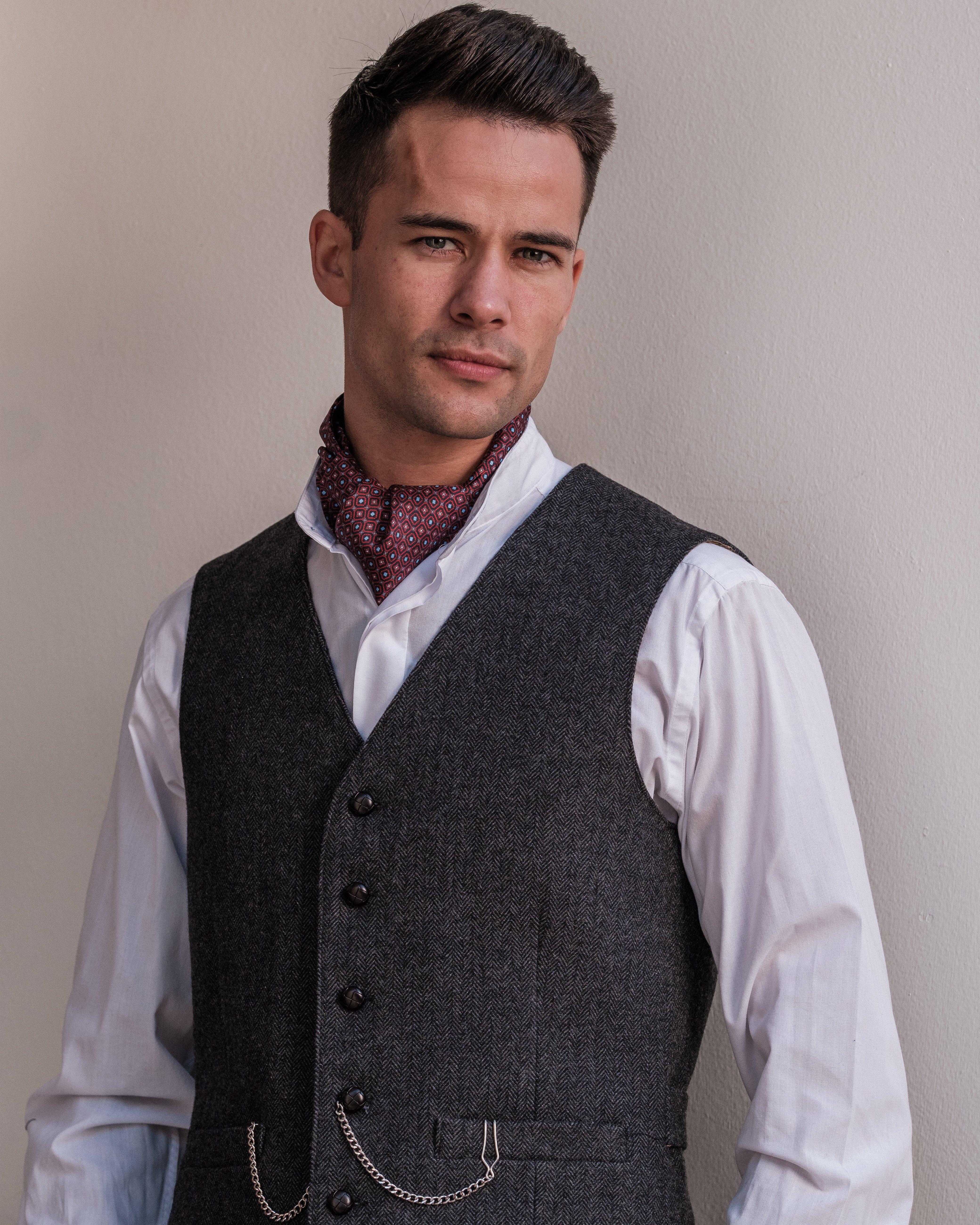 Behan Handmade Grey Tweed Waistcoat