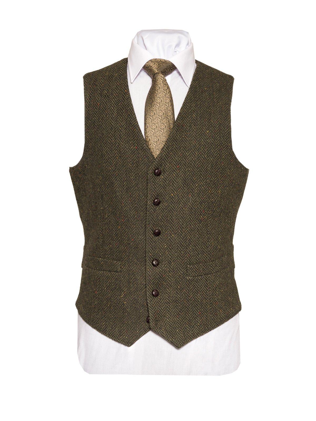 McDonagh Green Tweed Vest