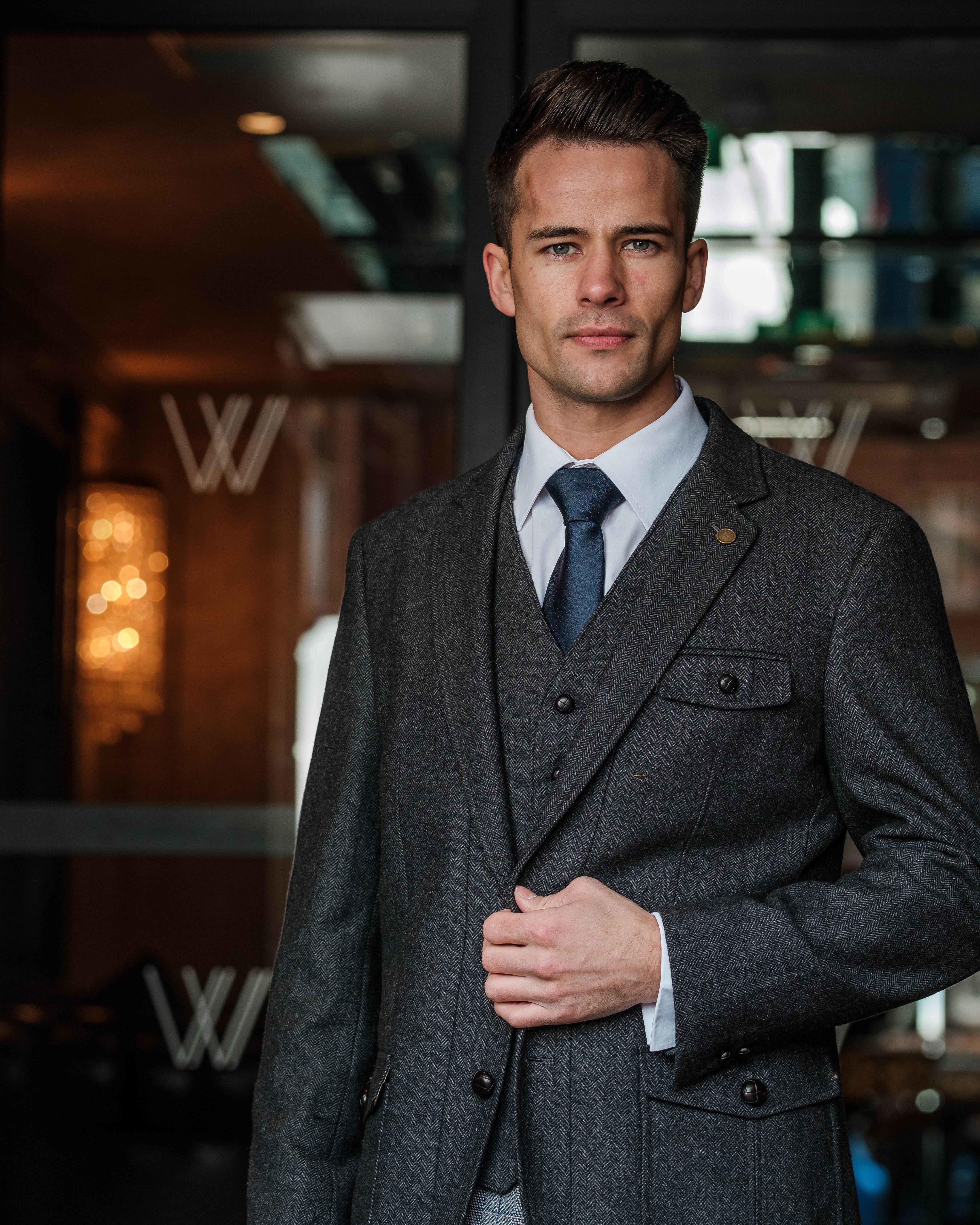 Swift Grey Slim Fit Jacket