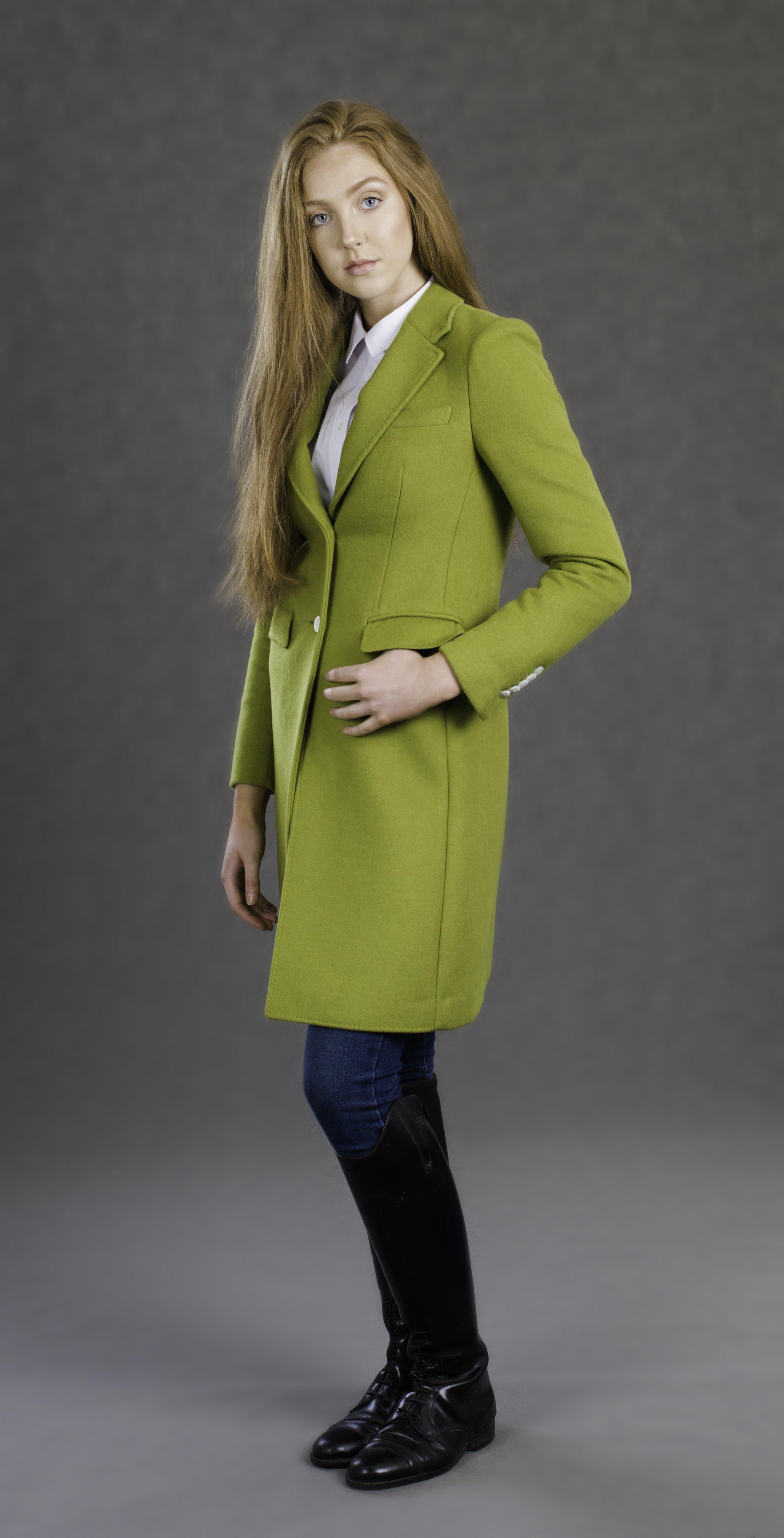 Ladies Lime Green Luxury Coat