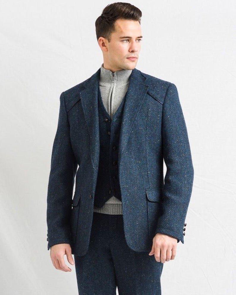 W B Yeats Blue Irish Tweed Jacket