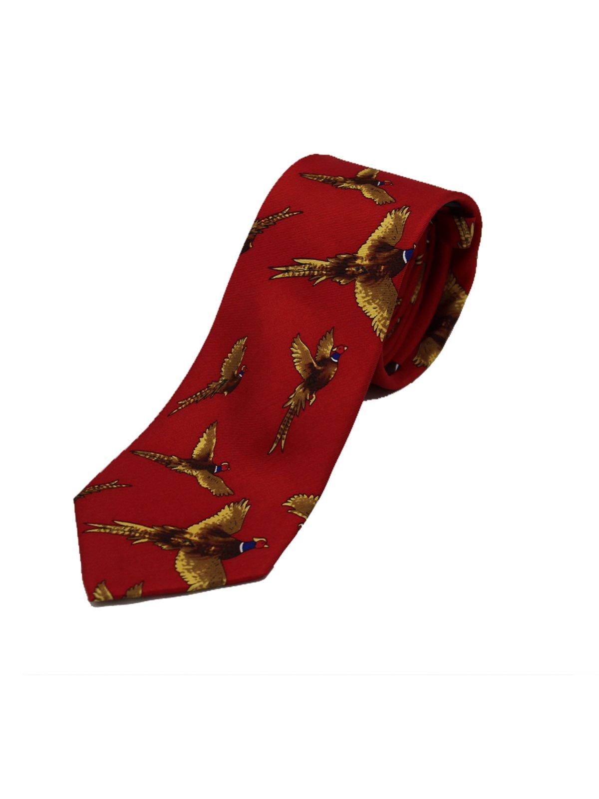 Cravate de faisan rouge