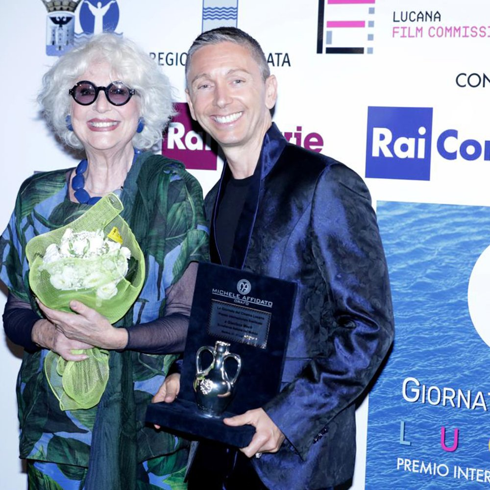 "GIANLUCA MECH AWARDED AT THE ""GIORNATE DEL CINEMA LUCANO"" IN MARATEA"