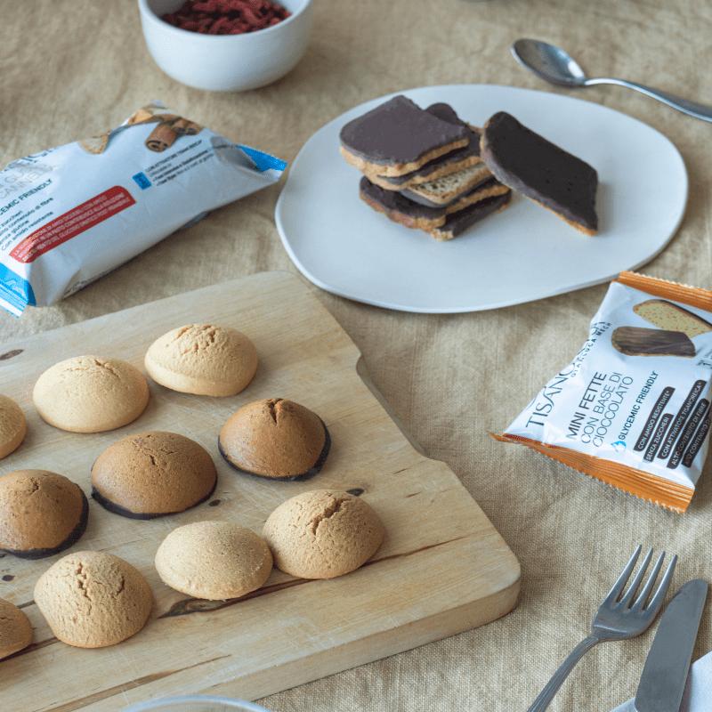 Dolci snack e merende per dieta a basso contenuto di zuccheri