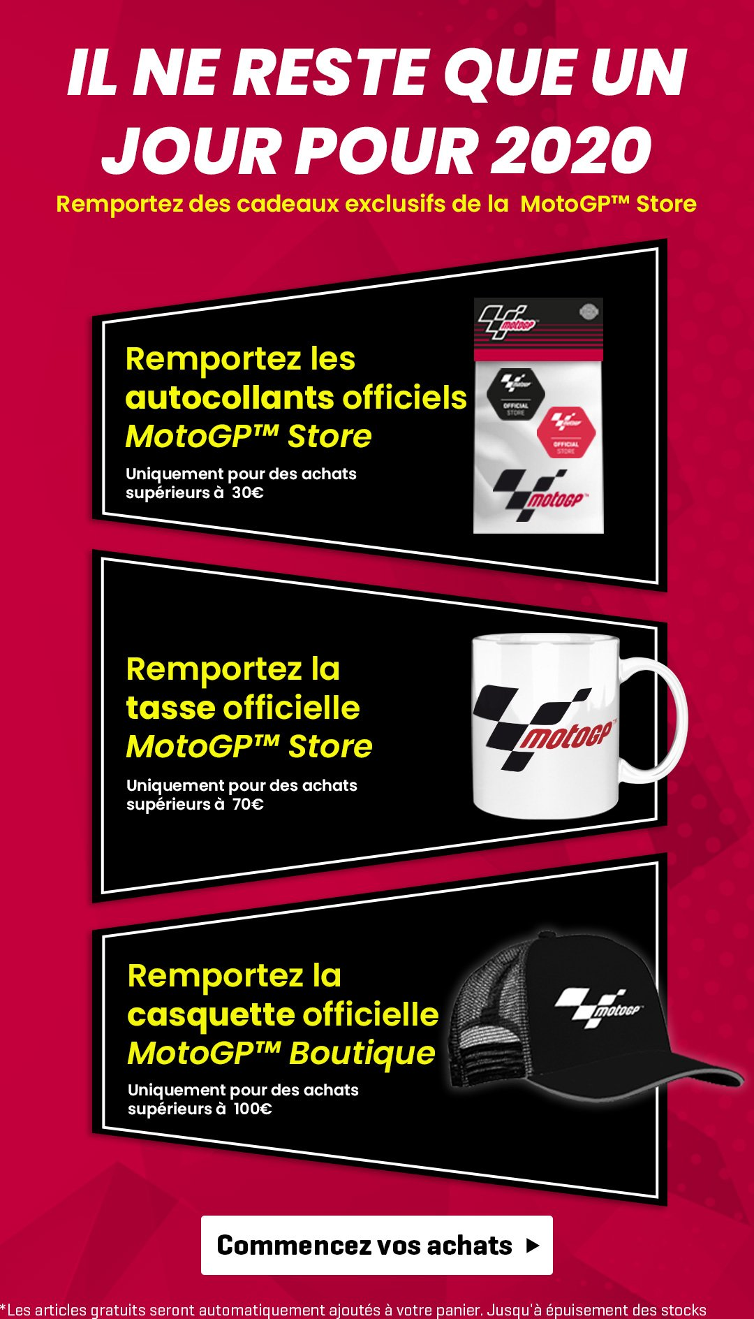 New year eve MotoGP promotion