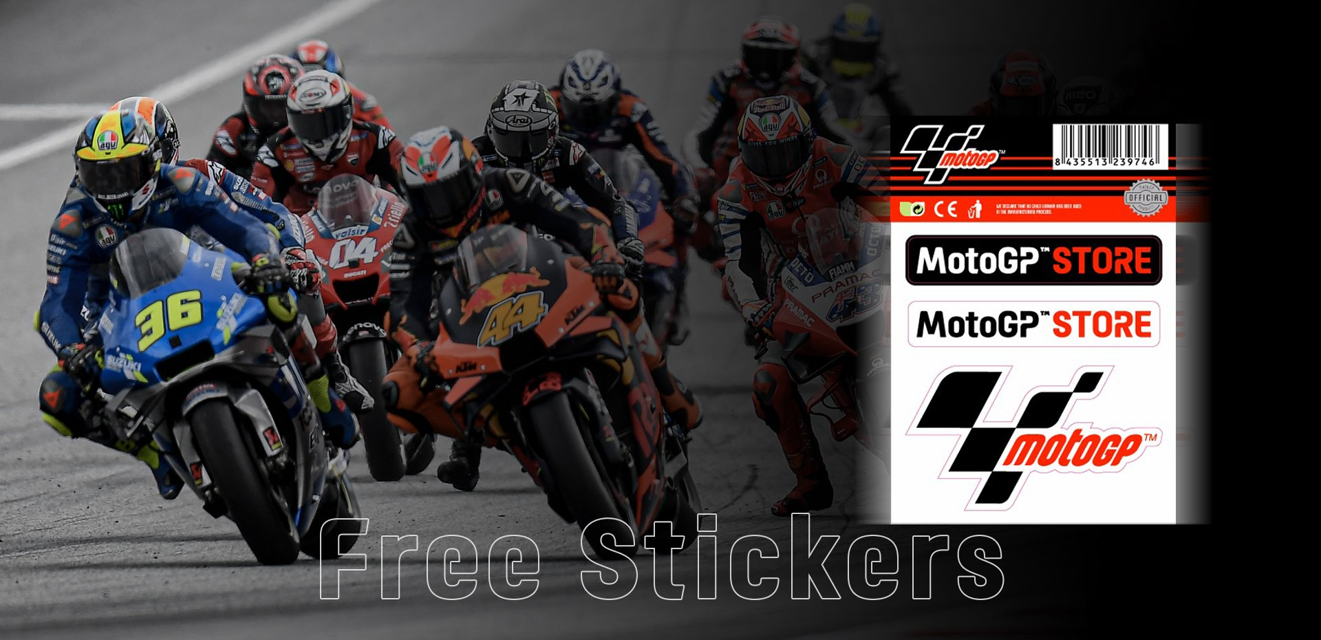 Free MotoGP™ Store Store Stickers in every order