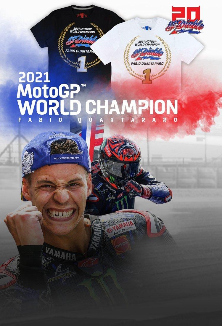 Maglietta Campione del Mondo 2021 Fabio Quartararo