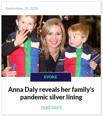Anna Daly pandemic silver lining